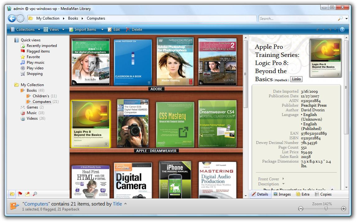 Click to view MediaMan Library 1.0.1015 screenshot