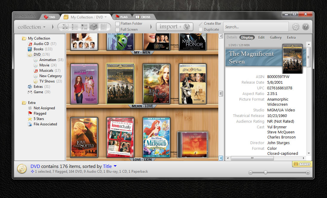 MediaMan, the ideal software to manage your collection. Screen Shot